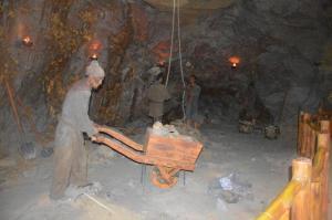 模拟采矿区