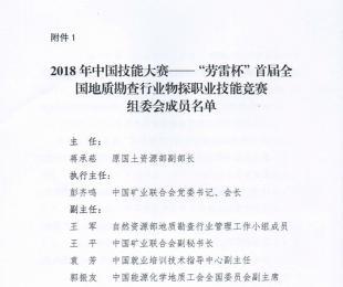 2018年中国技能大赛组委会成员名单